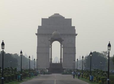 View along the Rajpath